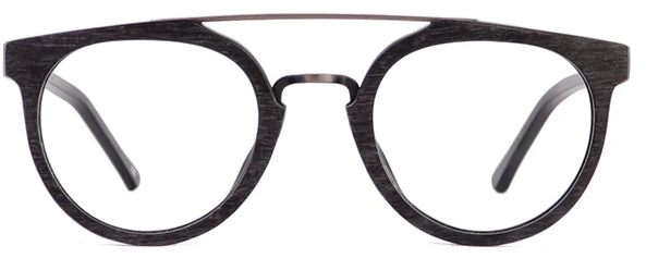 Matt Black Dallas Eyeglasses Men Front - Leone Eyewear