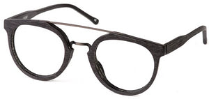 Matt Black Dallas Eyeglasses Men Side - Leone Eyewear