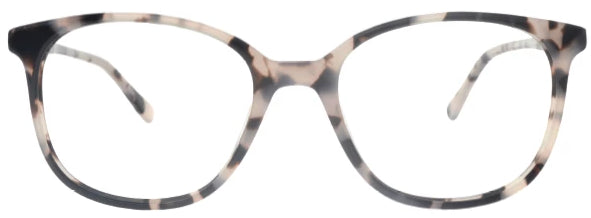 Grey tort Boston Eyeglasses Women Front - Leone Eyewear
