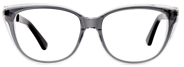 Clear Grey Lady Bird Eyeglasses Women Front - Leone Eyewear