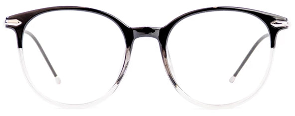 Black/Grey Aria Eyeglasses Women Front - Leone Eyewear