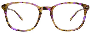 Purple Tort Doris Eyeglasses Women Front - Leone Eyewear