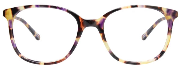 Purple Boston Eyeglasses Women Front - Leone Eyewear