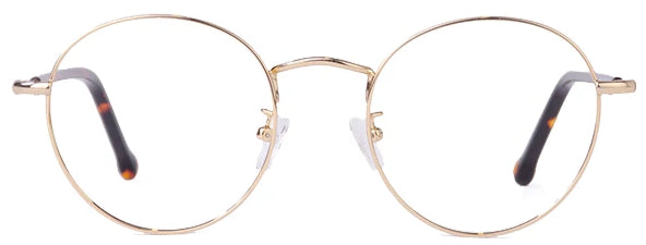 Gold Harry Eyeglasses Front - Leone Eyewear
