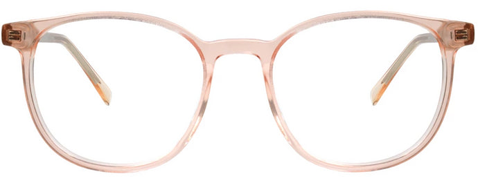 Clear Pink Paris Eyeglasses Women Front - Leone Eyewear