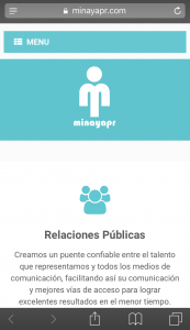 public relations website design mobile