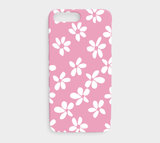White Flowers Pink / iPhone Case / iPhone 7 plus / 8 plus