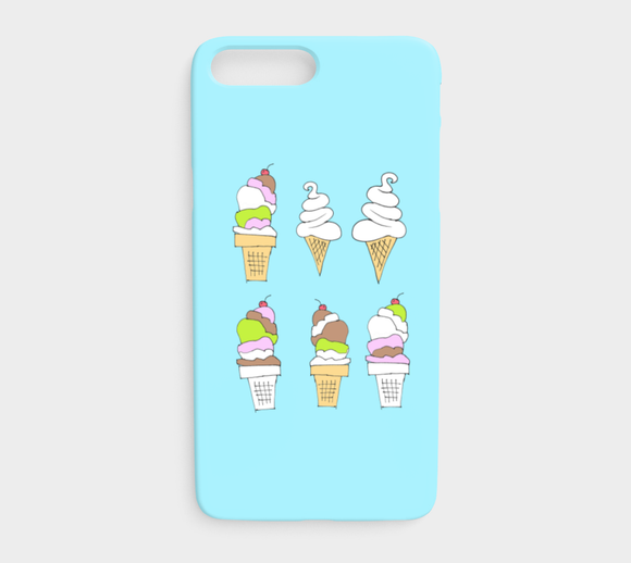 Ice Cream / iPhone Case / iPhone 7 plus / 8 plus