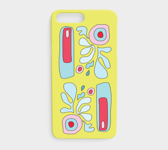Abstract Flower on Yellow / iPhone Case / iPhone 7 plus / 8 plus