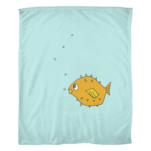 Fish in the Stream / Fleece Blanket