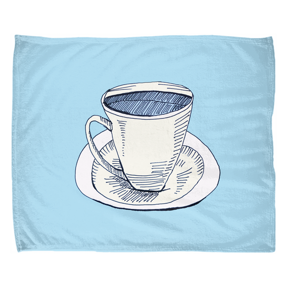 Cup Saucer Coffee / Fleece Blanket