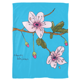 Cherry Blossoms / Fleece Blankets
