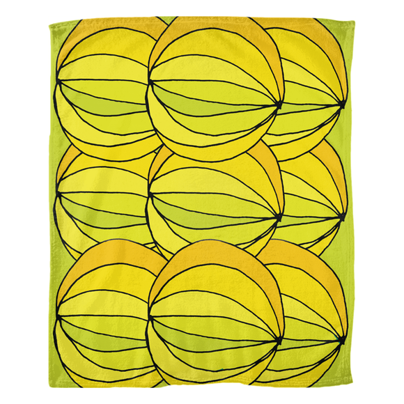 Layered Yellows / Fleece Blankets