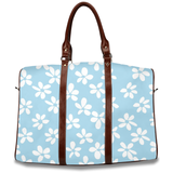 White Flowers Light Blue / Travel Bag