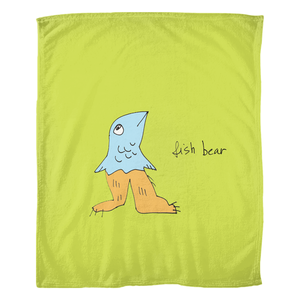 Fish Bear / Fleece Blanket