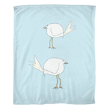 Beach Birds / Fleece Blanket