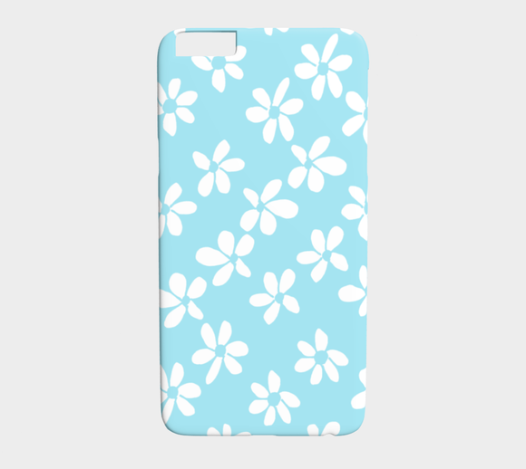 White Flowers Light Blue / iPhone Case / iPhone 6 plus / 6s plus