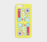 Abstract Flower on Yellow / iPhone Case / iPhone 7 / 8