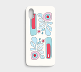 Abstract Flower on White / iPhone Case / iPhone X