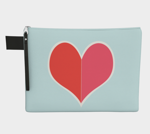 The Big Heart / Red / Zippered CarryAll / Choose One of Four Sizes
