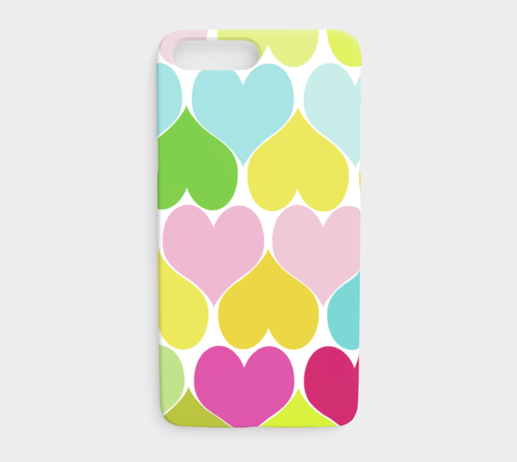 Hearts / iPhone Case / iPhone 7 Plus / 8 Plus