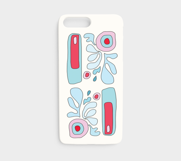 Abstract Flower on White / iPhone Case / iPhone 7 / 8
