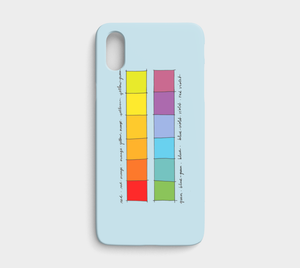 Colour Theory Spectrum / iPhone Case / iPhone X