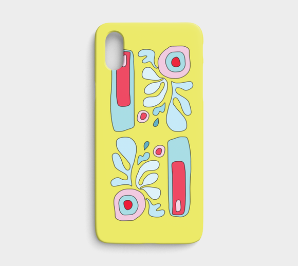 Abstract Flower on Yellow / iPhone Case / iPhone X