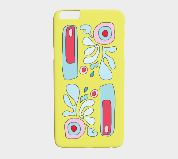 Abstract Flower on Yellow / iPhone Case / iPhone 6 plus / 6s plus