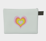 Hearts in Hearts / Zippered CarryAll / Choose One of Four Sizes
