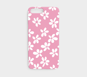 White Flowers Pink / iPhone Case / iPhone 7 / 8