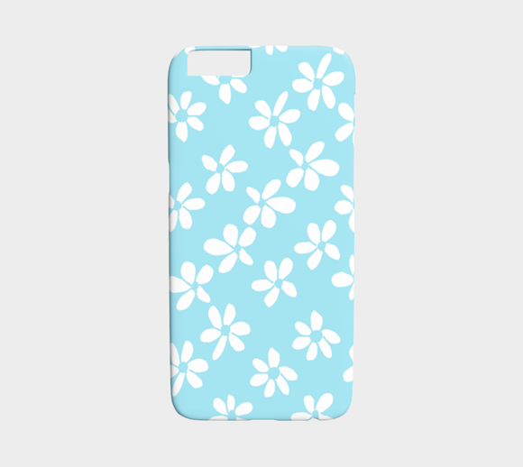 White Flowers Light Blue / iPhone Case / iPhone 6 / 6s
