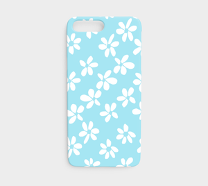 White Flowers Light Blue / iPhone Case / iPhone 7 / 8