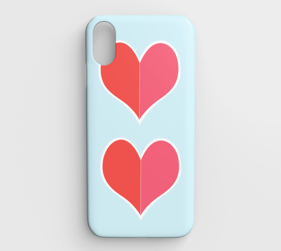 Two Big Hearts / Red / iPhone Case / XS Max
