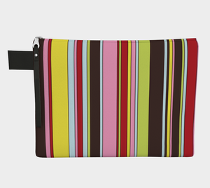 Colour Study 008 / Stripes / Zippered Carry All / Choose One of Four Sizes