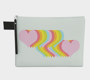 Hearts Below / Zippered CarryAll / Choose One of Four Sizes
