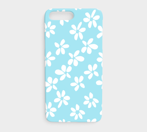 White Flowers Light Blue / iPhone Case / iPhone 7 plus / 8 plus
