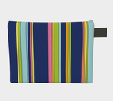 Colour Study 001 / Blue Stripes / Zippered Carry All / Choose One of Four Sizes