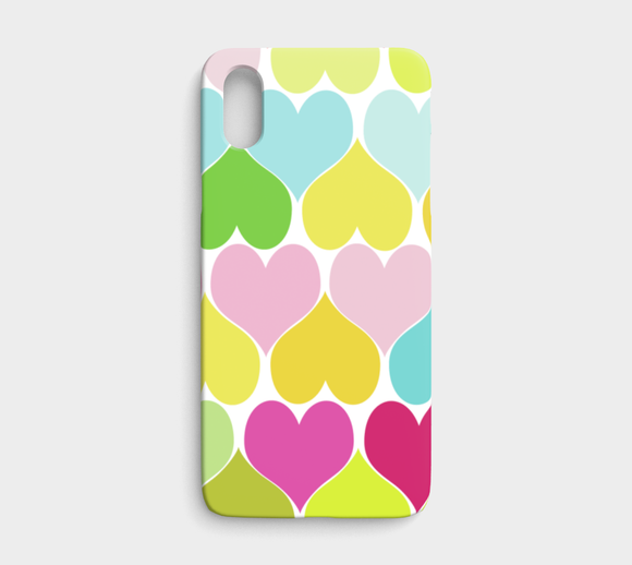 Hearts / iPhone Case / iPhone X / XS