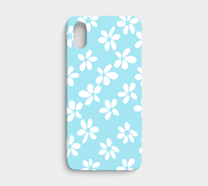 White Flowers Light Blue / iPhone Case / iPhone X
