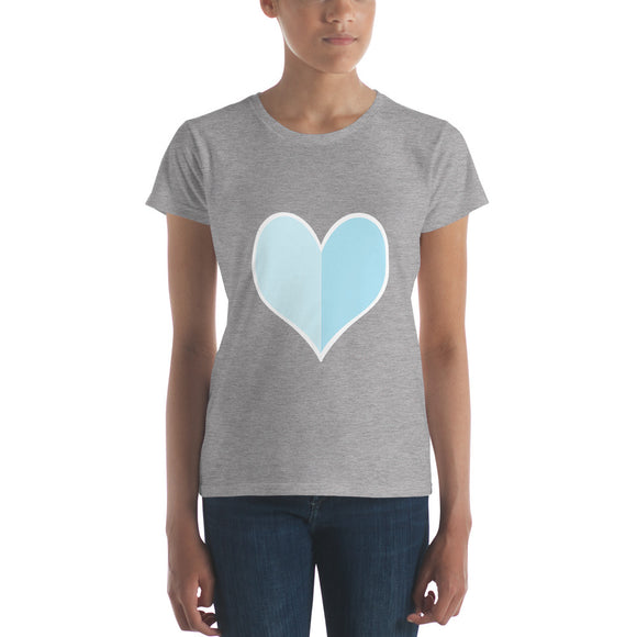 The Big Heart / Blue / Women's Classic Short Sleeve T-Shirt / Sizes S - XL