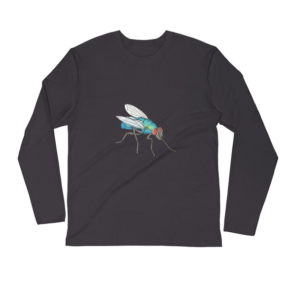 The Big Fly / Men's / Long Sleeve Fitted Crew Shirt