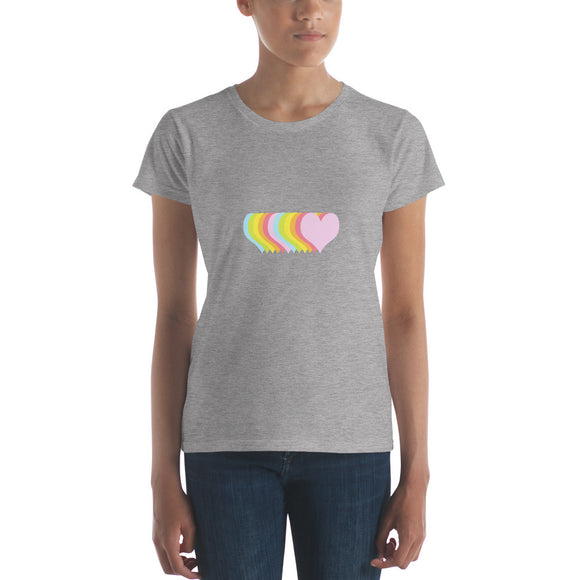 The Line Up / Hearts / Women's Classic Short Sleeve T-Shirt / Sizes S - XL