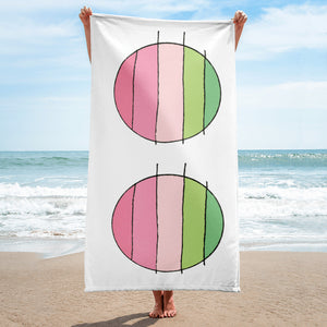 Pink Pink Circles / Color Sketch / Beach Towel