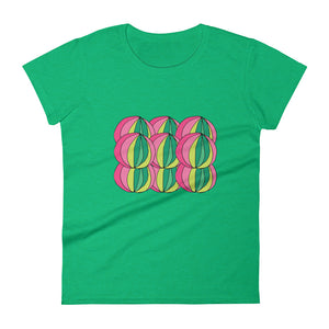 Layered Greens / Women's Classic Short Sleeve T-Shirt / Sizes S - XL