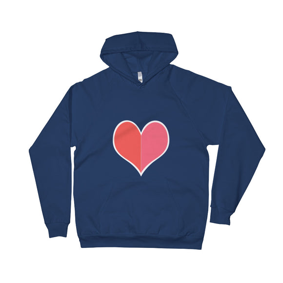 The Big Heart / Red / Unisex Fleece Hoodie with Pocket