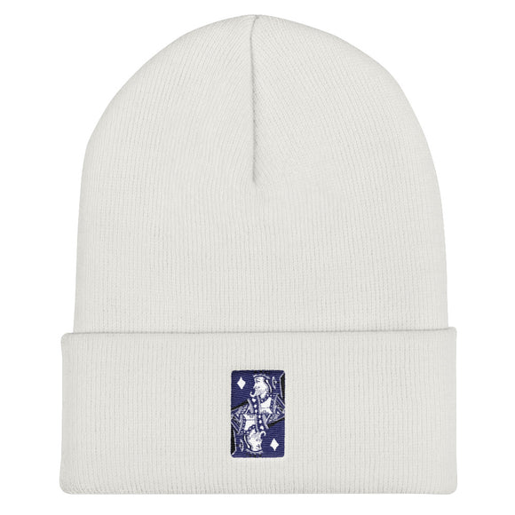 King Card / Embroidered Cuffed Beanie