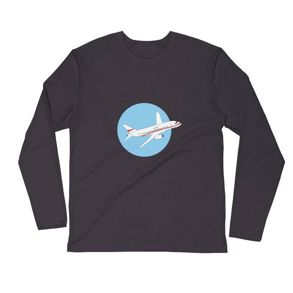 The Airliner / Men's / Long Sleeve Fitted Crew Shirt