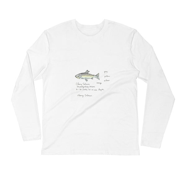 Cherry Salmon Fishing / Men's / Long Sleeve Fitted Crew Shirt