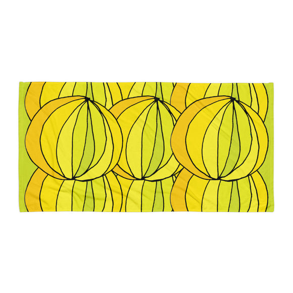 Layered Yellow Lime / Beach & Bath Towel